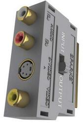 Переходник SCART на 3 RCA + VHS, GOLD с переключателем (SG1102G)