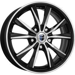 Автомобильный диск литой K&K Спайдер 6,5x16 5/108 ET 45 DIA 67,1 Алмаз черный