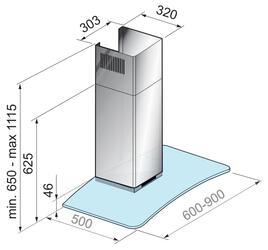 Вытяжка каминная Korting KHC 9972 X серебристый