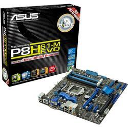 Плата ASUS LGA1155 P8H61-M EVO H61 4xDDR3-1333 2xPCI-Ex16 HDMI/DVI/DSub 8ch 2xSATA3 4xSATA RAID 6xUSB3 GLAN mATX