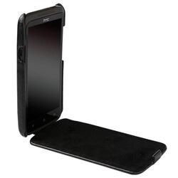Чехол Krusell SLIMCOVER для HTC One X (75529), кожа, черный