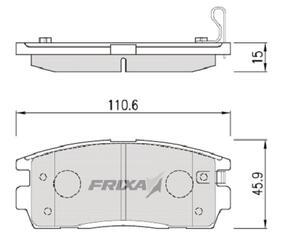 Тормозные колодки Hankook Frixa FPD16R