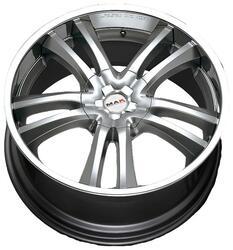 Автомобильный диск литой MAK Canyon 10x22 5/127 ET 35 DIA 71,6 Hyper Silver Steel Lip