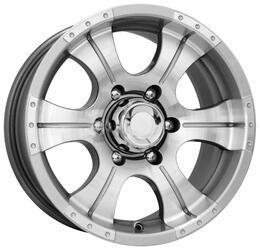 Автомобильный диск  K&K Байконур 8x16 5/139,7 ET 20 DIA 107,6 Блэк платинум