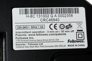 Уничтожитель бумаг Fellowes H-8C
