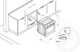 Электрический духовой шкаф Korting OKB 552 CFX