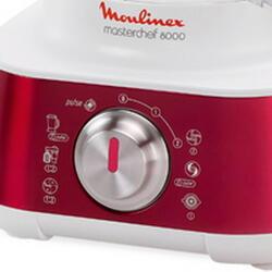 Кухонный комбайн Moulinex FP659GB7 белый, красный