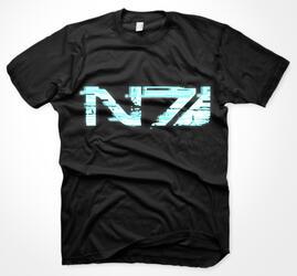 Футболка Mass Effect - Glitch N7 Logo (Размер L)