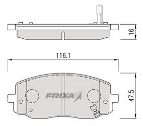 Тормозные колодки Hankook Frixa FPK20