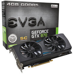 Видеокарта EVGA GeForce GTX 970 Superclocked ACX 2.0 [GTX970 04G-P4-2974-KR]