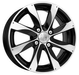 Автомобильный диск Литой K&K Джемини 5,5x14 4/100 ET 43 DIA 60,1 Алмаз черный