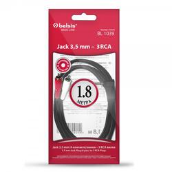 Кабель Belsis 3.5 Jack - 3xRCA