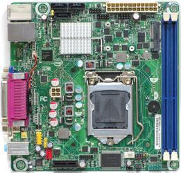 Плата Intel LGA1155 DH61DL H61 2xDDR3-1333 DVI/DSub 6ch 3xSATA 2xUSB3 GLAN mini-ITX