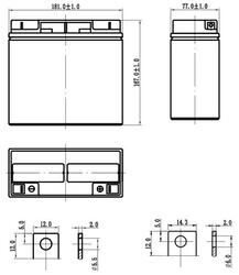 Аккумуляторная батарея для ИБП Delta DTM 1217