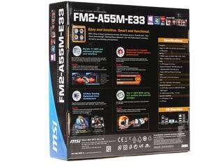 Плата MSI A55M-E33 Socket-FM2+ AMD A55 DDR3 mATX AC`97 8ch(7.1) GbLAN SATA2 RAID VGA+HDMI PCI