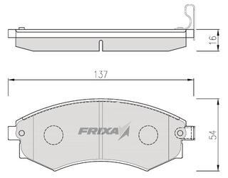 Тормозные колодки Hankook Frixa FPY02