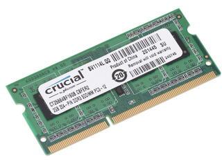 Оперативная память SODIMM Crucial [CT25664BF160B] 2 ГБ