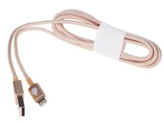 Кабель Juicies+ JPLT1GD USB - Lightning 8-pin золотистый
