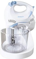 Миксер Scarlett SC-042 Белый с синим/прозрачная чаша