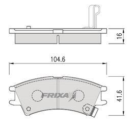Тормозные колодки Hankook Frixa FPH10
