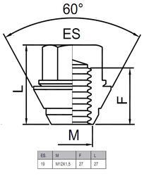 Гайки-секретки HEYNER T2 42574