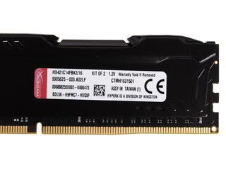 Оперативная память Kingston HyperX FURY Black Series [HX421C14FBK2/16] 16 ГБ
