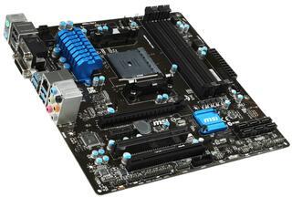 Плата MSI Socket-FM2+ A78M-E45 V2 A78 4xDDR3-2133 2xPCI-Ex16 HDMI/DVI/DSub 8ch 6xSATA3 RAID 4xUSB3 GLAN mATX