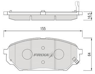 Тормозные колодки Hankook Frixa FPH19