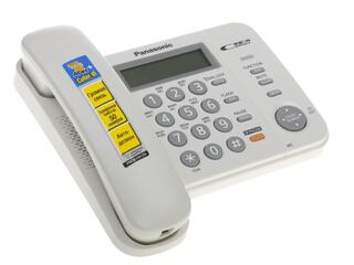 Телефон проводной Panasonic KX-TS2358RUW
