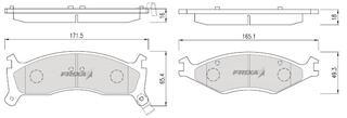 Тормозные колодки Hankook Frixa FPK07