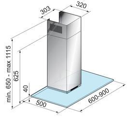 Вытяжка каминная Korting KHC 9971 X серебристый