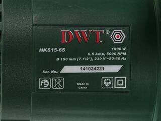 Пила дисковая DWT HKS 15-65