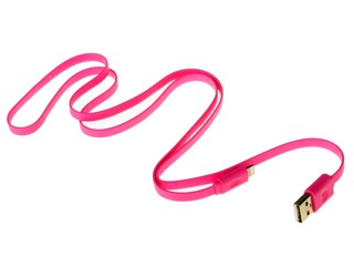 Кабель InterStep IS-DC-CIPH5FTRO-000B201 USB - Lightning 8-pin розовый