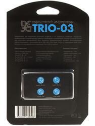 Портативный аккумулятор DF Trio-03 черный, голубой