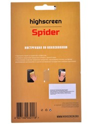 """5""""  Пленка защитная для смартфона Highscreen Spider"""