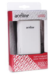 Портативный аккумулятор Aceline U100 белый
