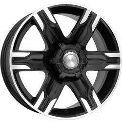 Автомобильный диск литой K&K Риальто 8x17 6/139,7 ET 46 DIA 67,1 Алмаз черный