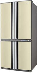 Холодильник с морозильником Sharp SJF95PEBE бежевый