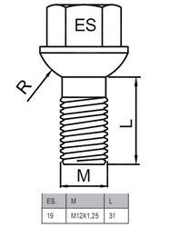 Болты-секретки HEYNER E1 42538