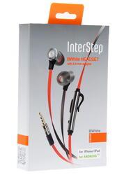 Гарнитура проводная InterStep IS-HF-BW35RDMET-000B203