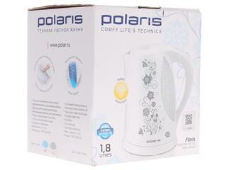 Электрочайник Polaris PWK 1822 CLR FLORIS белый