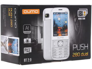Сотовый телефон QUMO Push 280 Dual серебристый