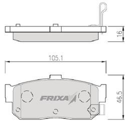 Тормозные колодки Hankook Frixa FPS01R