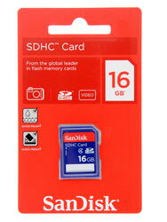Карта памяти SanDisk SDHC 16 Гб