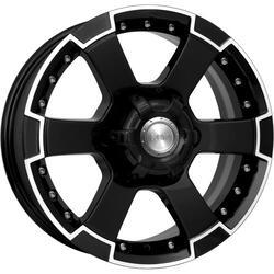 Автомобильный диск Литой K&K М56 7x16 6/139,7 ET 22 DIA 107,1 Алмаз черный