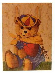 Пакет подарочный Мишка в кепке