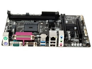 Плата Gigabyte Socket-AM1 GA-AM1M-S2P AMD AM1 2xDDR3-1600 2xPCI-E(16-1) 7.1ch 2xSATA3 2xUSB3 microATX