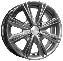 Автомобильный диск Литой K&K Аттика 6x15 4/100 ET 48 DIA 54,1 Блэк платинум