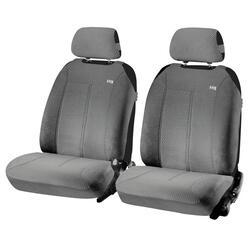 Накидка на сиденье H&R SUPER MALIBU FRONT передняя, велюр букле, т.серая