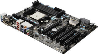 Плата ASRock Socket-FM1 A75 Pro4/MVP A75/D3 4xDDR3-2400 2xPCI-Ex16 HDMI/DVI/DSub 8ch 5xSATA3 4xUSB3 eSATA GLAN ATX